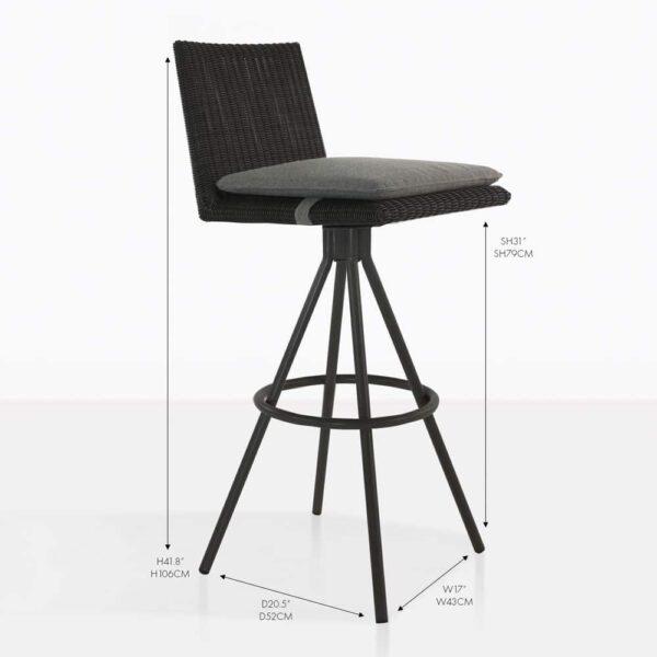 loop black wicker bar chairs