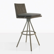 Loop Wicker Swivel Bar Stool