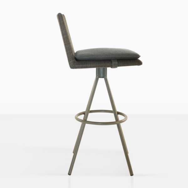 Loop Swivel Bar Stool - wicker bar chair
