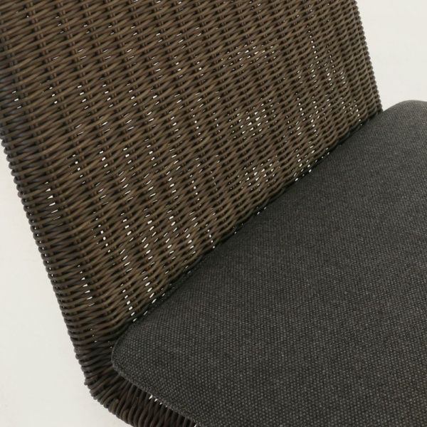 Loop Wicker Counter Height Stool Closeup