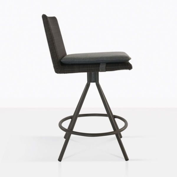 Loop Black Wicker Counter Stool