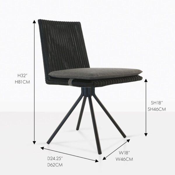 black loop dining chair wicker