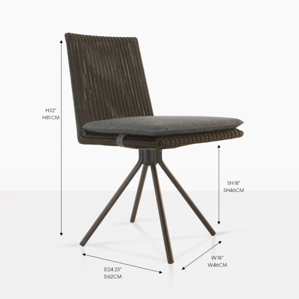 loop outdoor dining chair brown