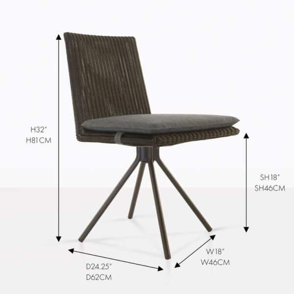 loop ding chair wicker brown