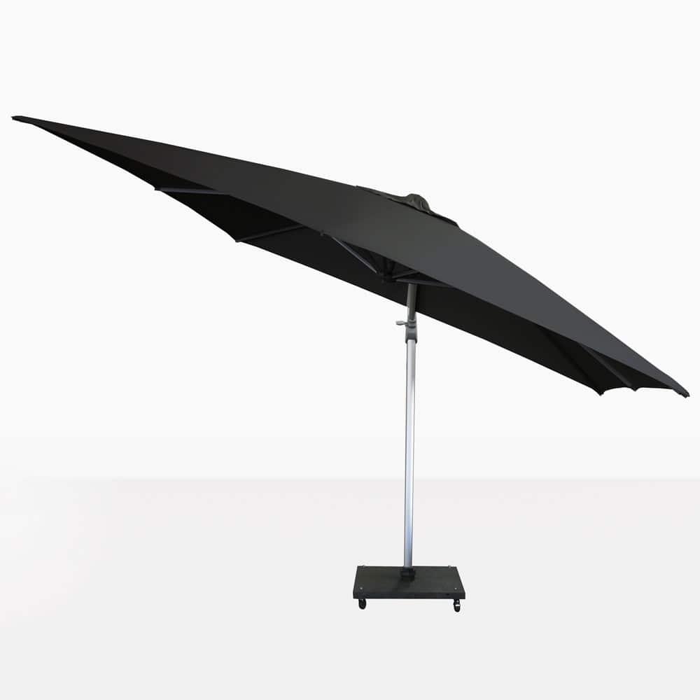 Mauritius Outdoor Black Cantilever Umbrella Patio Shade Teak Warehouse