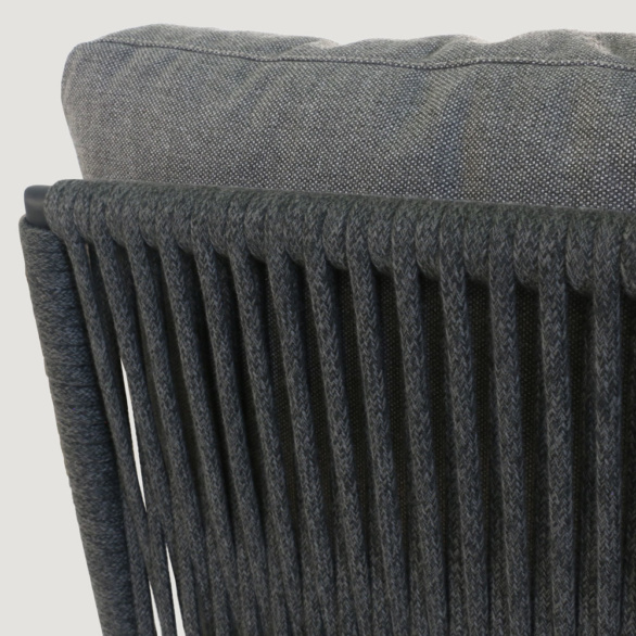 Oasis Rope Chair Closeup With Cushion