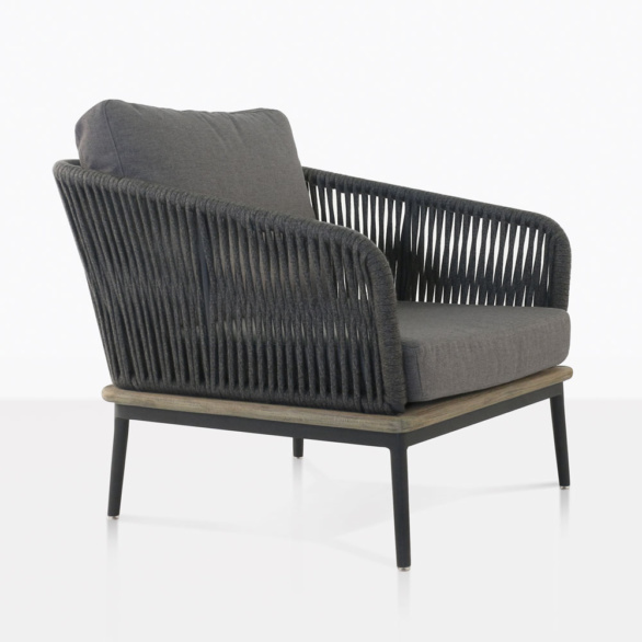 Oasis Rope Club Chair With Coal Cushions