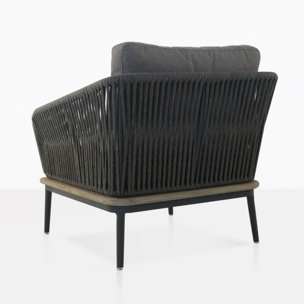 Oasis Charcoal Rope Lounge Chair