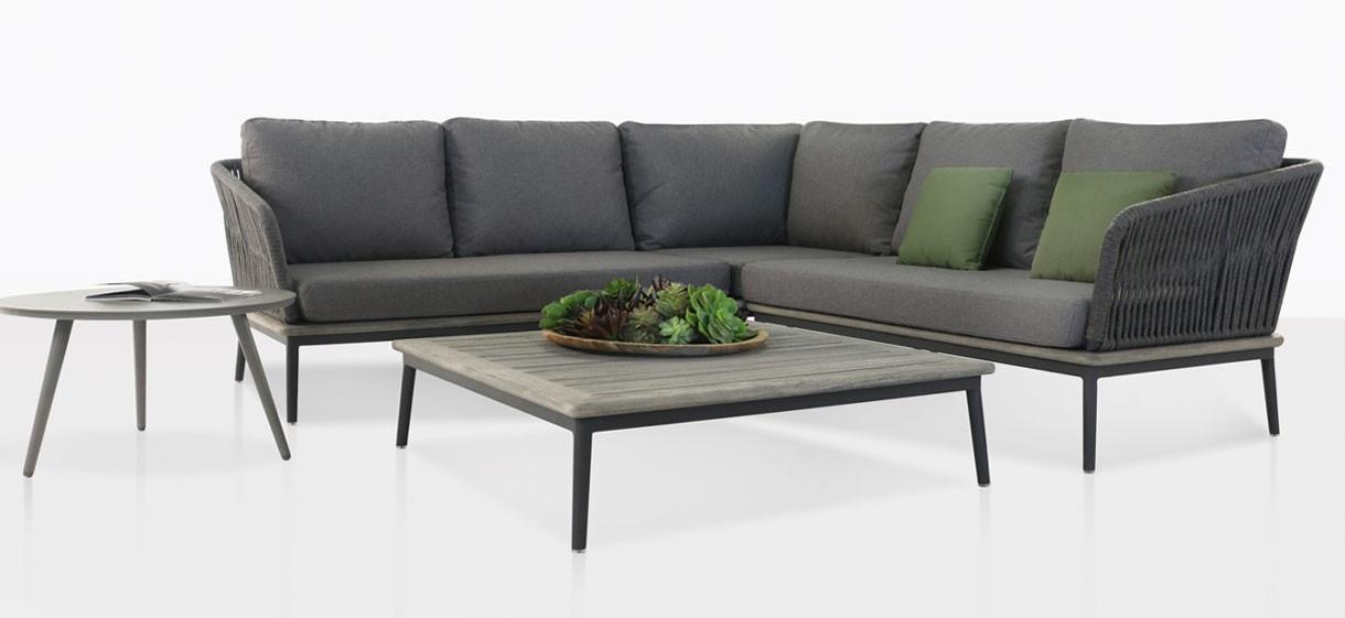 Oasis Rope Outdoor Furniture Collection (Coal) | Modular | Teak Warehouse