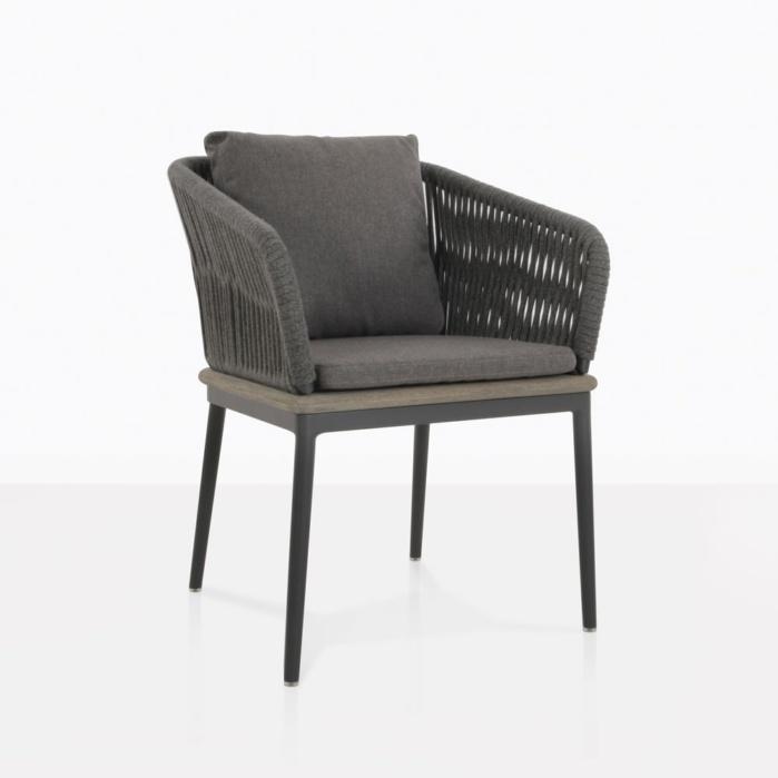 Oasis Outdoor Dining Chair Coal Patio Furniture Teak