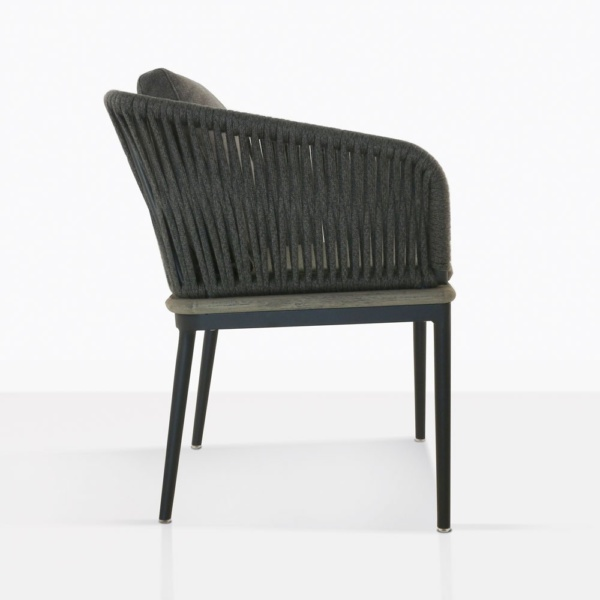 Oasis Outdoor Dining Chair With Cushions Side View