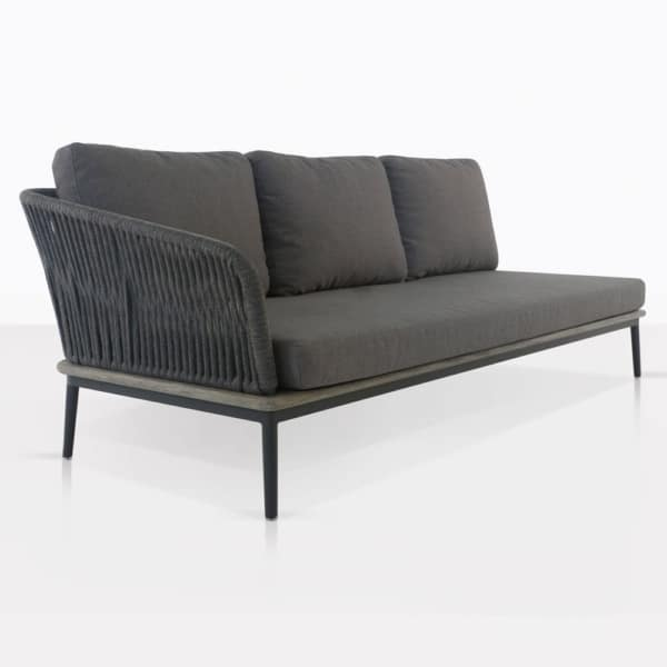 Oasis Right Arm Sectional Sofa Coal