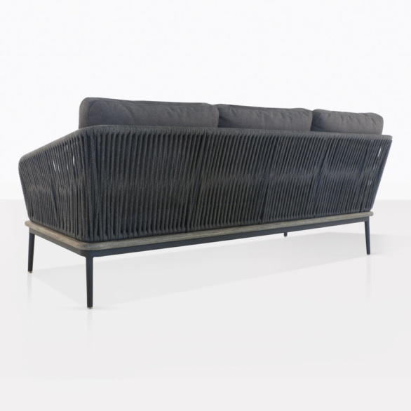 Oasis Outdoor Sectional Sofa Left Back View