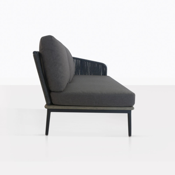 Oasis Sectional Sofa Left with Coal Cushions