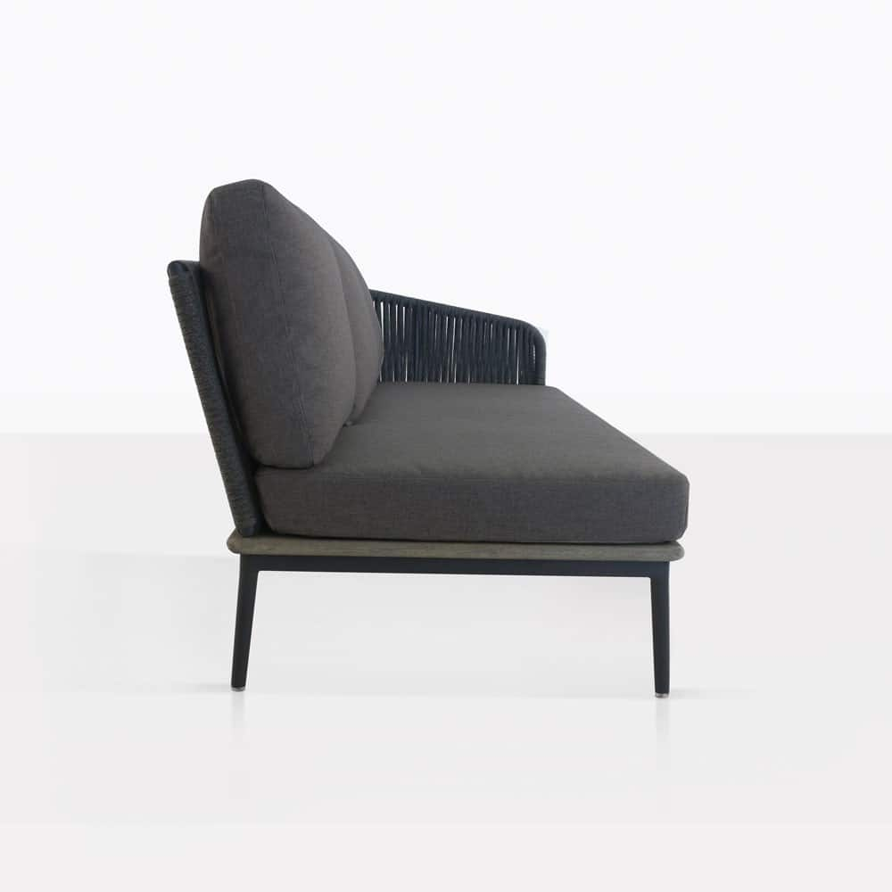 ... Oasis Sectional Sofa Left With Coal Cushions. U201c