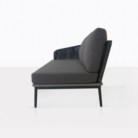 Oasis Sectional Sofa Right With Coal Cushions