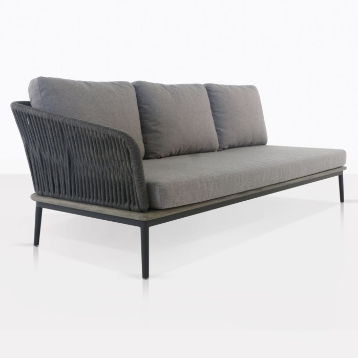 Oasis Outdoor Sectional Right Sofa (Fog)