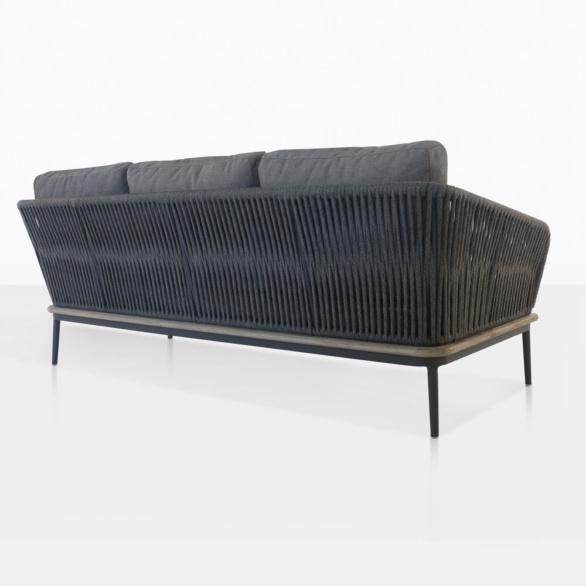 Oasis Teak And Aluminum Outdoor Sofa