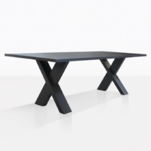 Rudi Aluminum Dining Table Angle