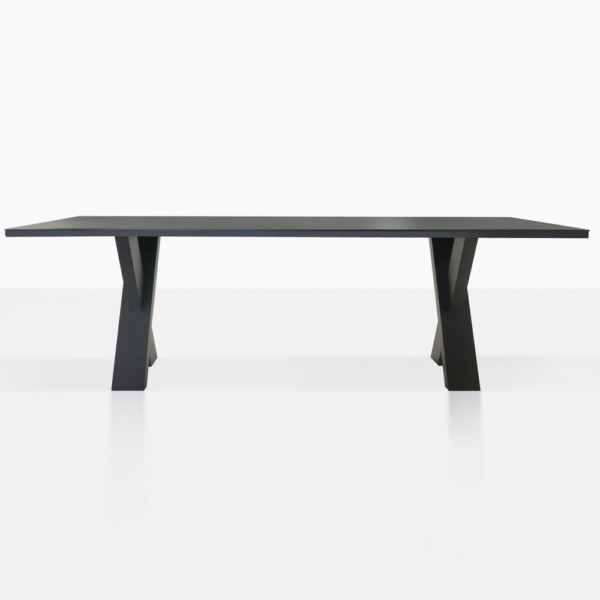 Rudi Aluminum Dining Table Side View