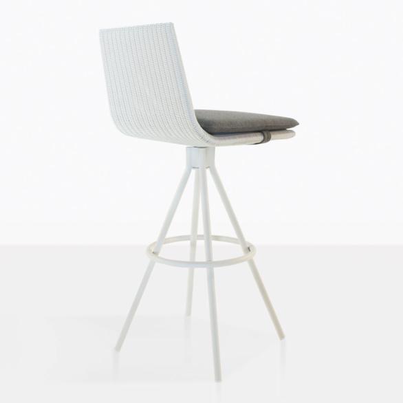 sammie white wicker bar stool sammie wicker bar stool back
