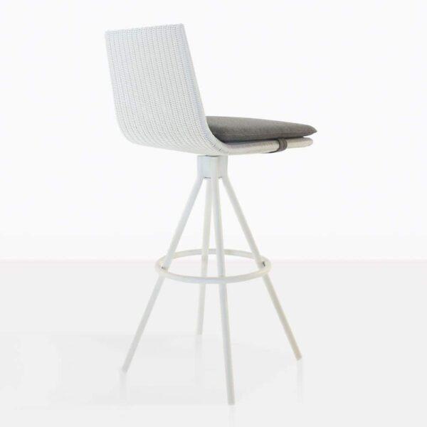Sammie Wicker Bar Stool Back - white bar stool