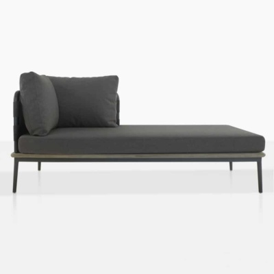 space left arm daybed with blend coal color cushions and one pillow