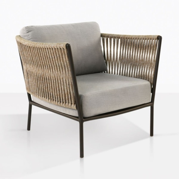 Tessa Relaxing Chair With Grey Cushions