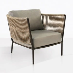 Tessa Aluminum Relaxing Chairs With Taupe Cushions