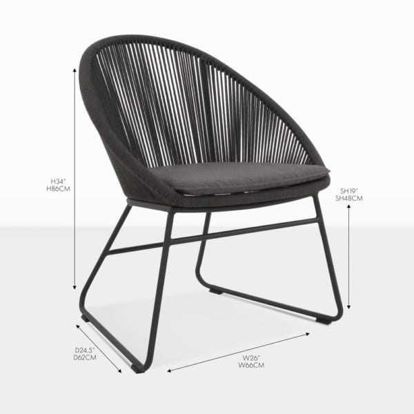toga vertical weave dining chair