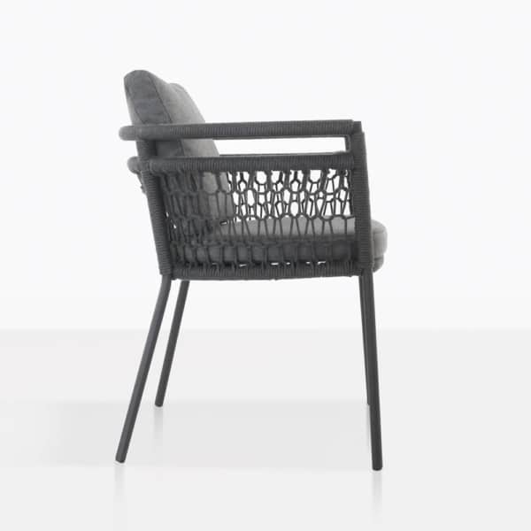 Usso Woven Rope Outdoor Dining Chair Side