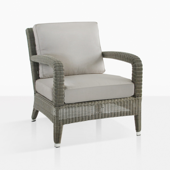 Aaron Light Brown Wicker Lounge Chair