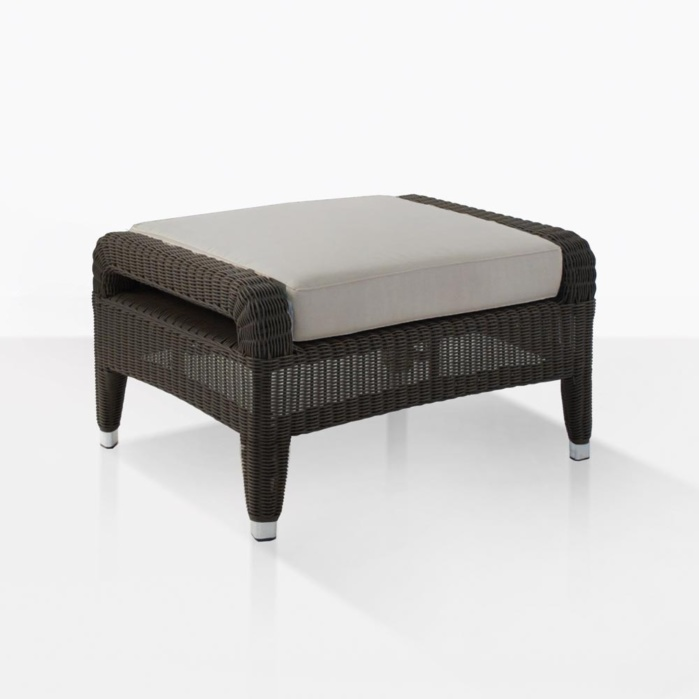 Aaron Wicker Outdoor Ottoman