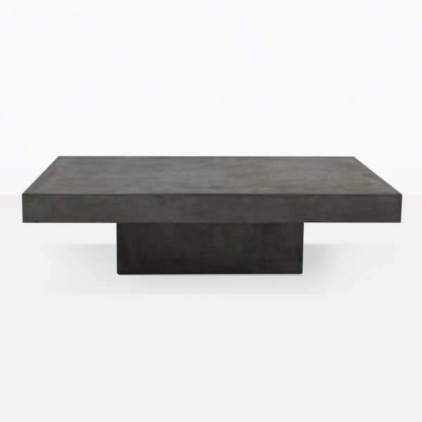 Blok Concrete Rectangle Coffee Table Straight