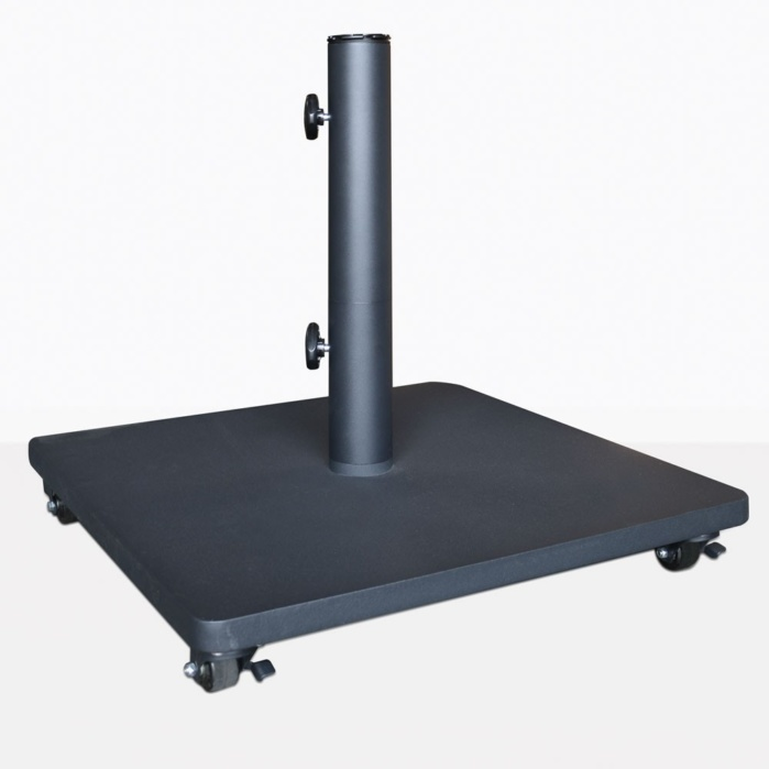 Flat Steel Umbrella Base With Casters
