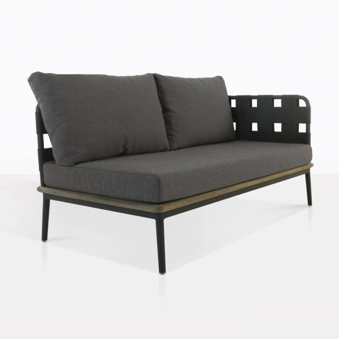 front - Space loveseat left arm