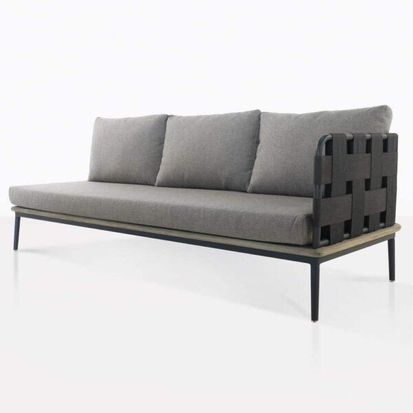 left arm space sofa - angled