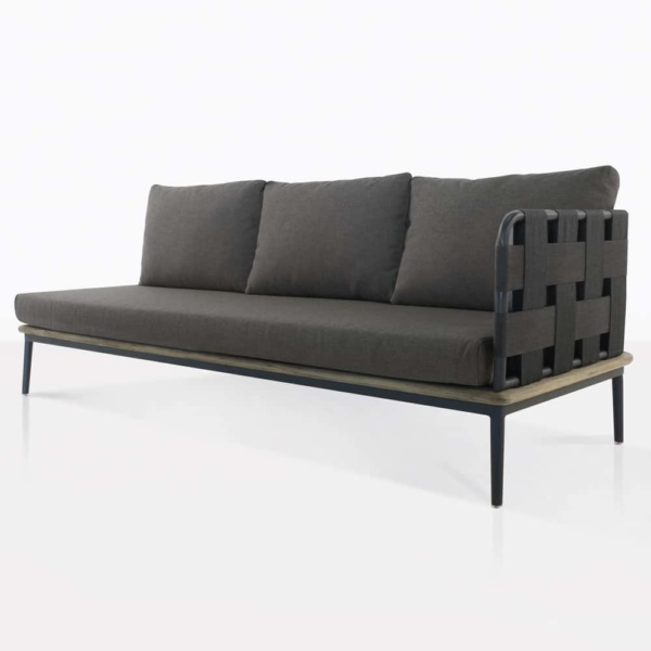 front angle view - Space sofa left arm