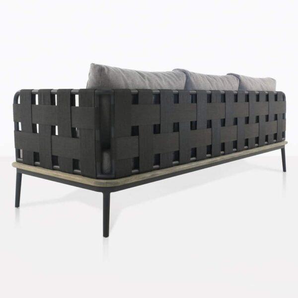 left arm space sofa - rear