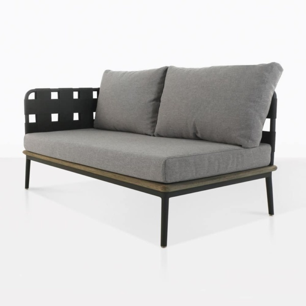 Space loveseat right - angle front