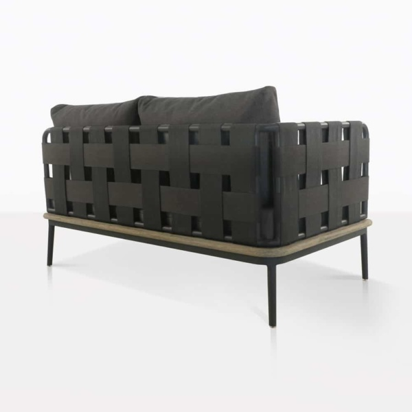 back angle - space loveseat - right arm