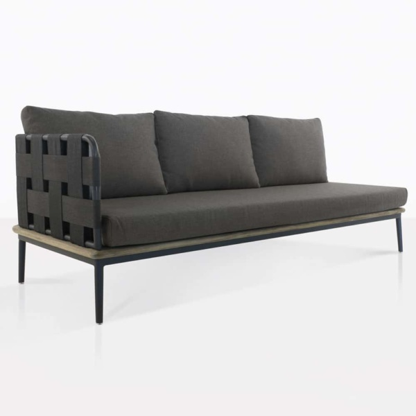 angle view - space sofa - right arm