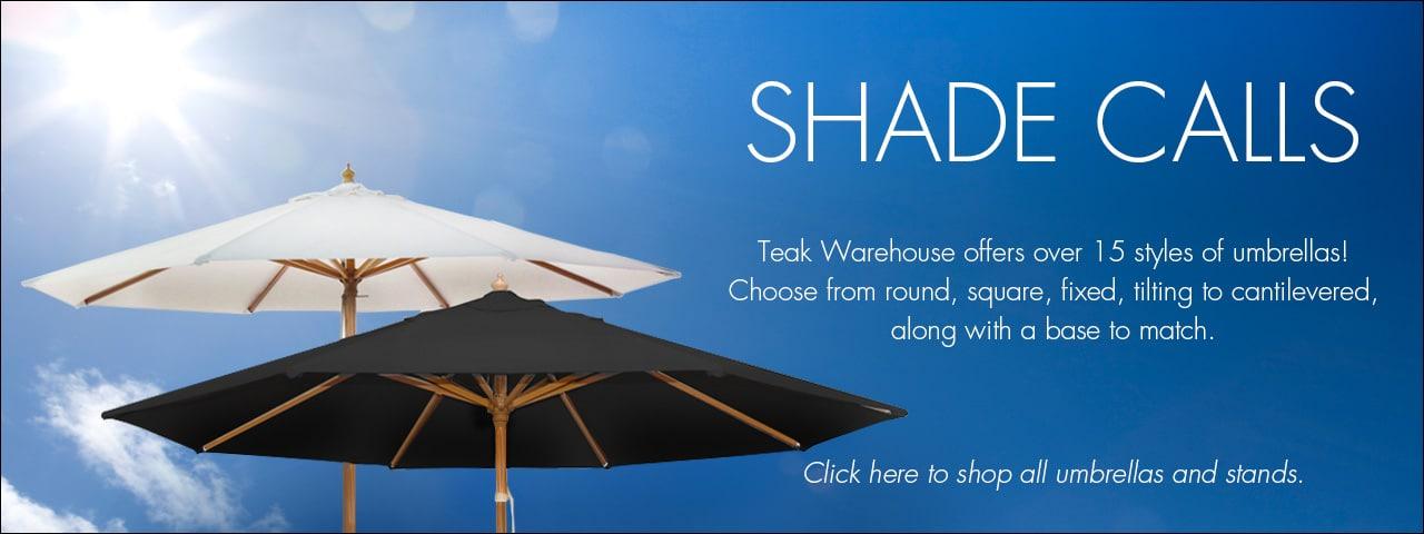 Patio Umbrellas from Teak Warehouse