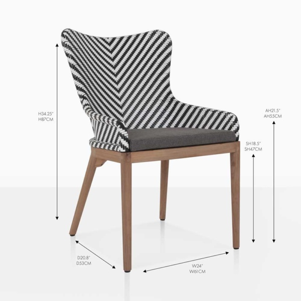 bugg dining wicker chair
