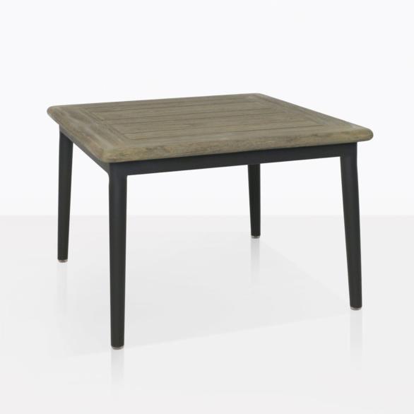Oasis Teak And Aluminum Side Table
