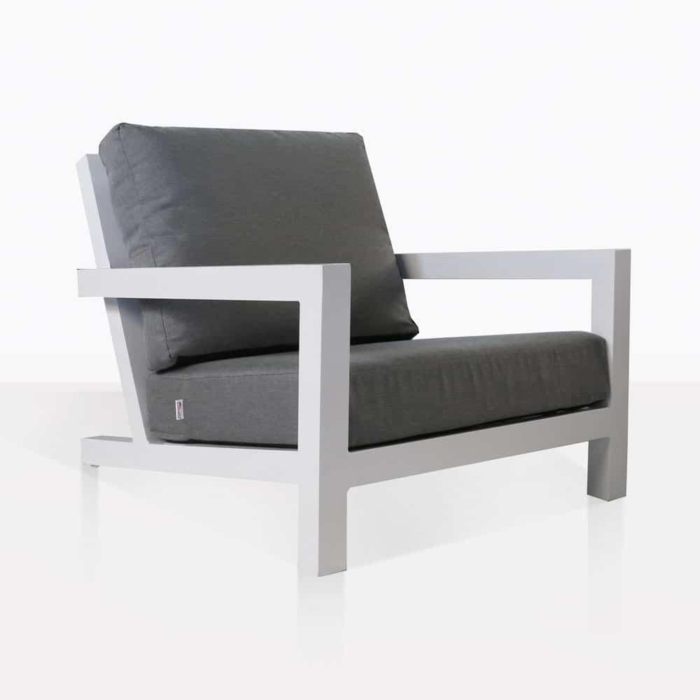 Granada Aluminum Club Chair White Outdoor Furniture Teak Warehouse
