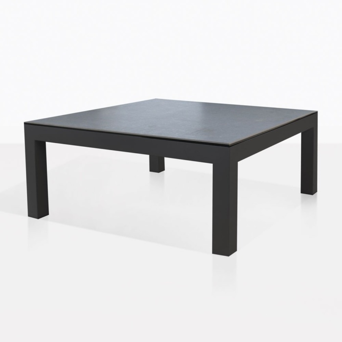Granada Aluminum Outdoor Coffee Table Dark Grey Teak Warehouse - Black aluminum outdoor coffee table