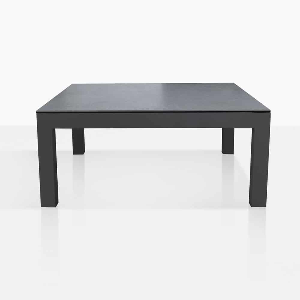 Grey Teak Coffee Table: Granada Aluminum Outdoor Coffee Table (Dark Grey)
