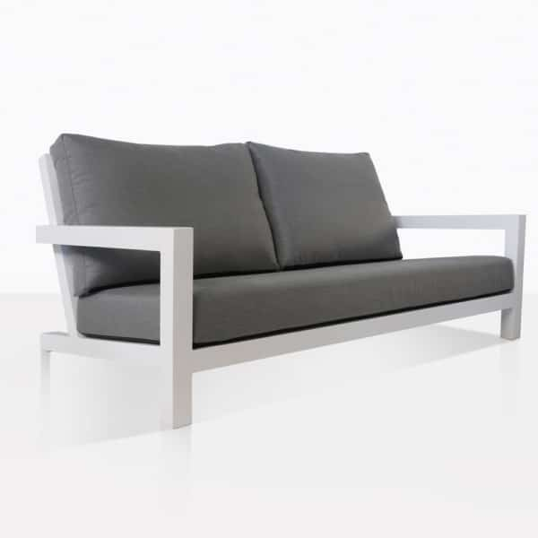 Granada White Outdoor Loveseat