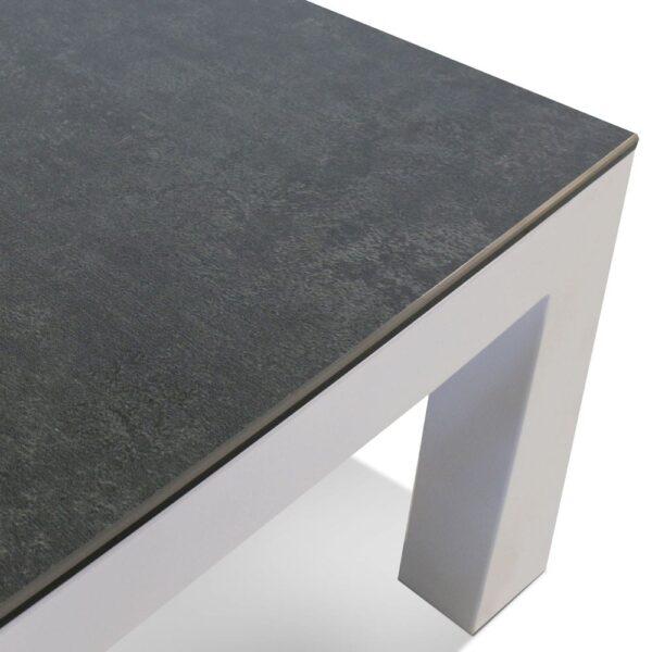 Granada White Coffee Table Closeup